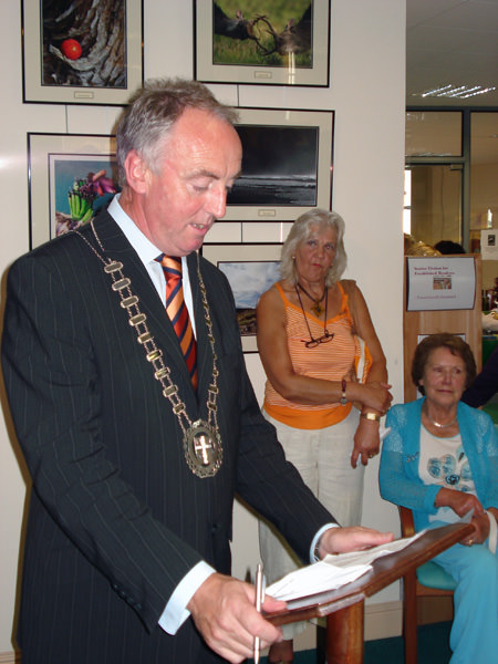 Clr Noel O'Connor, Mayor of Mallow, Declares the Exhibition Open