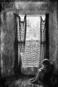 child-in-the-window-bw
